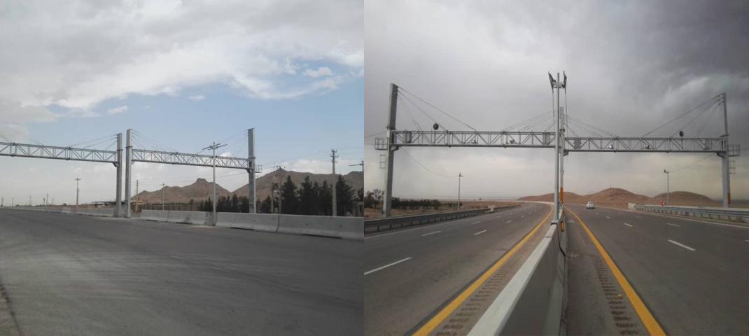 نصب سومین دکل سامانه اخذ عوارض الکترونیکی آزادراه شرق سپاهان